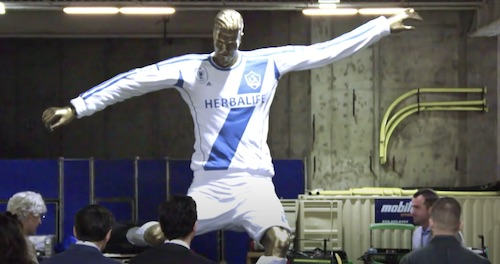 Beckham Statue Prank
