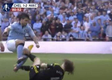 Aguero Stomps on Luiz