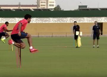 Barcelona Suarez Jumping
