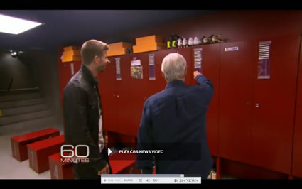 Barcelona Players Still Have Their Names on Lockers