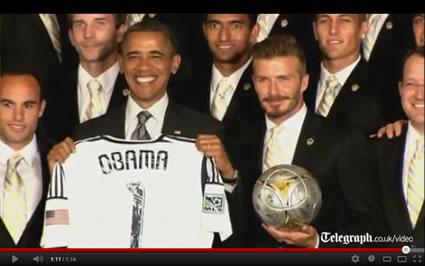 David Beckham & President Obama