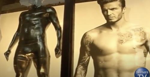 Beckham Statue H&M