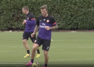 Beckham Training Arsenal