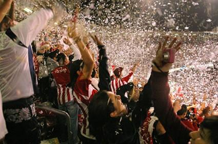 Chivas Fans Celebrate a Goal