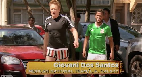 Conan O'Brien Plays Soccer With Gio Dos Santos in Mexico City