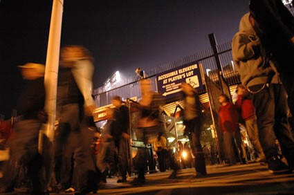 Crowd Exiting the Stadium