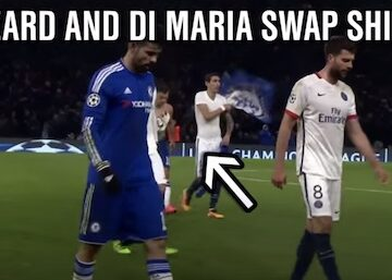 Halftime Jersey Swap in Soccer