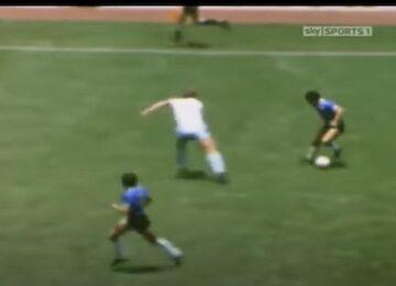 Maradona's Dribbling Run
