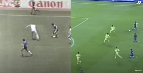 Messi Maradona Dribbling Runs