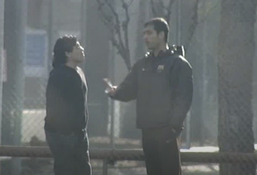 Maradona Talks to Guardiola