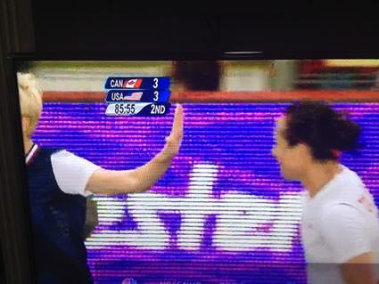Megan Rapinoe Talk to the Hand Move