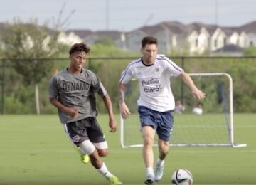 Messi Playing with Houston Dynamo