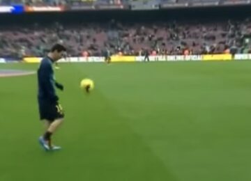 Messi Juggling Warmups