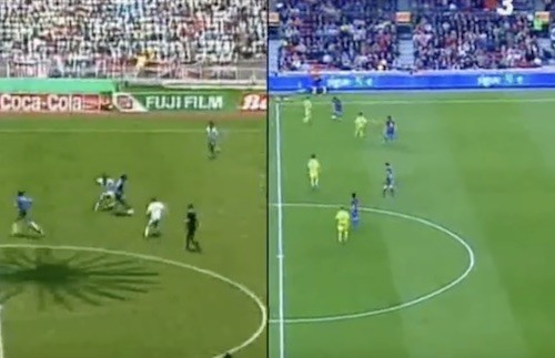 Messi's Maradona Imitation