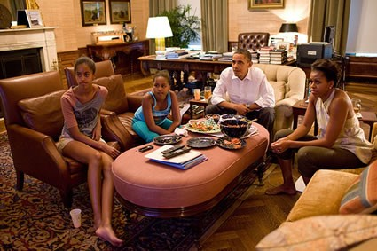 Obama & Family Watch World Cup