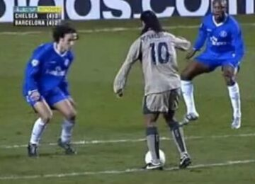 Ronaldinho Toe Poke Goal