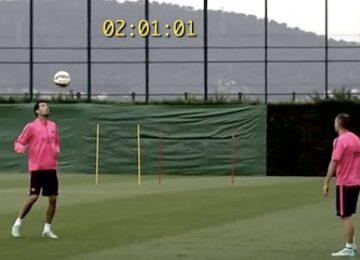 Xavi, Iniesta & Busquets Juggling