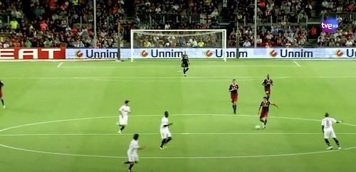 Xavi Through Ball