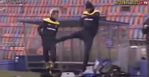 Zlatan Ibrahimovic Kicks Teammates