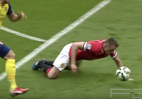 Phil Jones Head Tackle