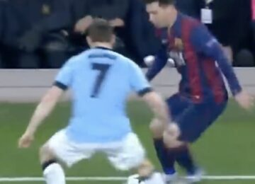 Messi Milner Nutmeg