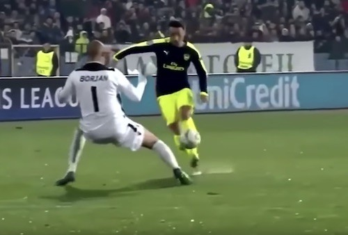 Ozil Juggle Goal Arsenal