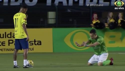 Neymar Defender Begging
