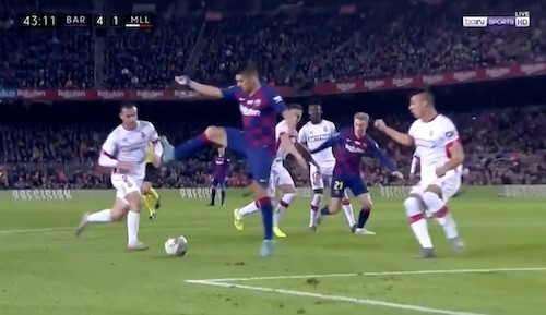 Suarez Back Heel Chip