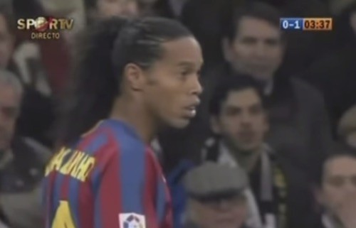 Ronaldinho Cheered by Real Madrid Fans