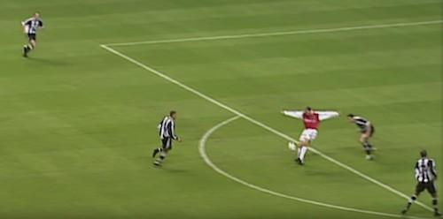 Bergkamp Goal Newcastle