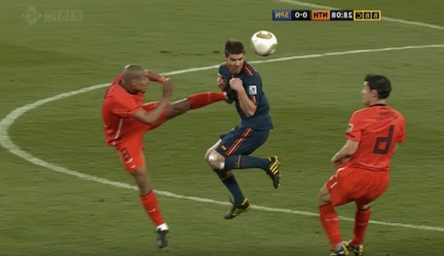 Nigel de Jong Karate Kick
