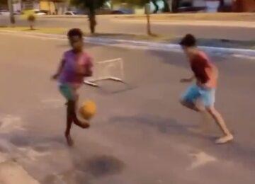 Barefoot Street Soccer