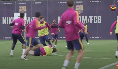 Messi Training Dribbling Run