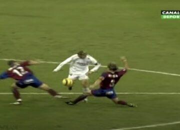 Real Madrid's Guti Splits Defenders