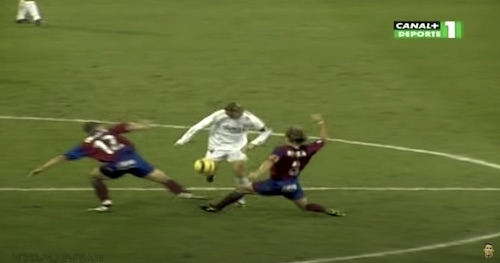 Guti Splits Defenders