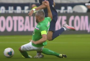 Mbappe Horror Tackle