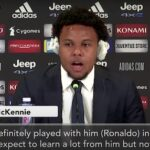 McKennie Played Video Games as Cirstiano Ronaldo