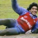 Maradona Playing in Mud