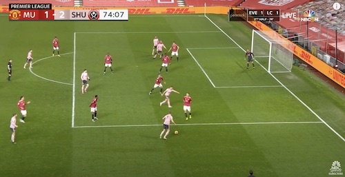 Terrible Defending by Manchester United