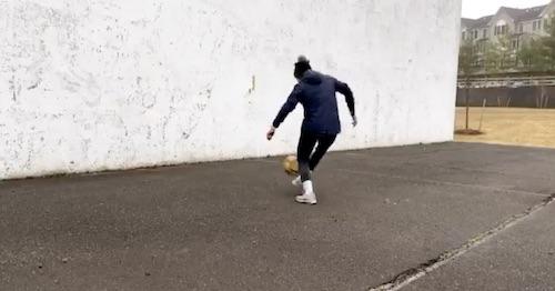 Sabrina Flores Soccer Wall Drill