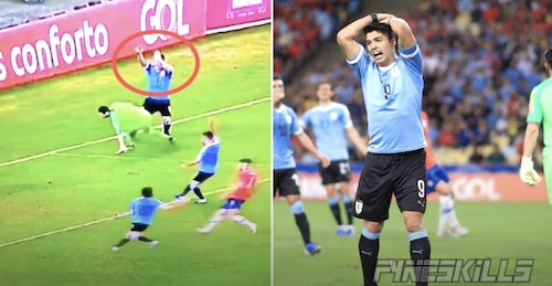 Suarez Handball Call on Keeper