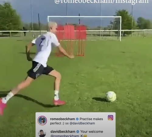 Romeo Beckham Free Kick