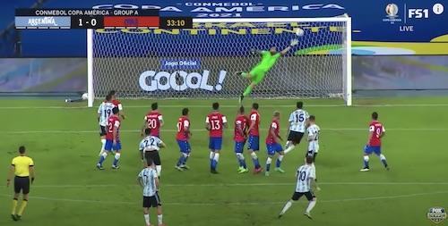 Messi Free Kick Versus Chile